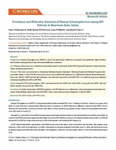 Prevalence and Molecular Detection of Human ... - ECronicon