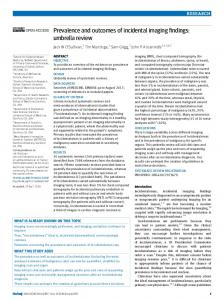 Prevalence and outcomes of incidental imaging findings - The BMJ