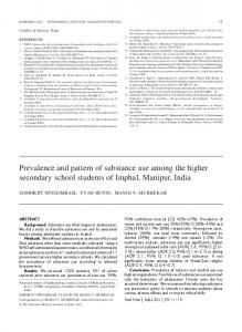 Prevalence and pattern of substance use among the higher secondary ...