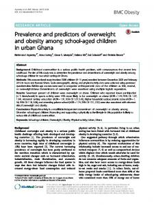 Prevalence and predictors of overweight and obesity ... - BMC Obesity