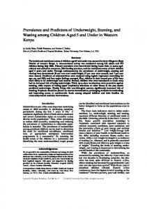 Prevalence and Predictors of Underweight, Stunting ... - Oxford Journals