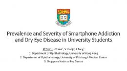 Prevalence and severity of smartphone addiction and dry eye disease ...