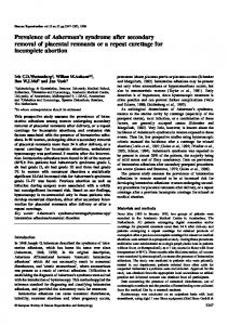 Prevalence of Asherman's syndrome after ... - Semantic Scholar