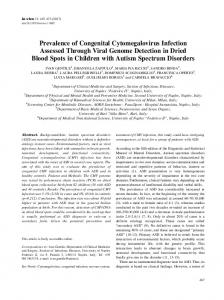 Prevalence of Congenital Cytomegalovirus Infection ... - In Vivo