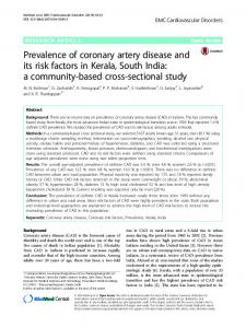 Prevalence of coronary artery disease and its risk factors ... - CiteSeerX