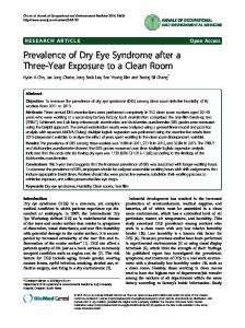 Prevalence of Dry Eye Syndrome after a Three-Year ... - Springer Link