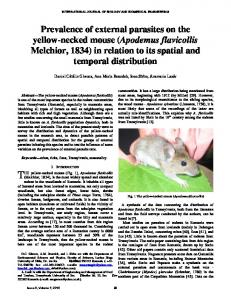 Prevalence of external parasites on the yellow-necked mouse ...