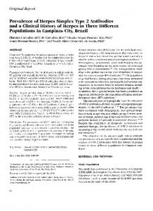 Prevalence of Herpes Simplex - International Journal of Infectious ...