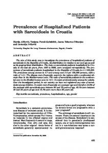 Prevalence of Hospitalized Patients with ... - Semantic Scholar