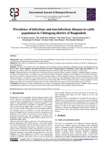 Prevalence of infectious and non-infectious diseases