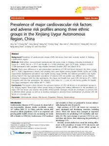 Prevalence of major cardiovascular risk factors and adverse risk ...