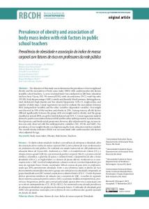 Prevalence of obesity and association of body mass index ... - SciELO