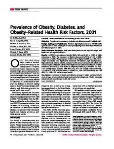 Prevalence of Obesity, Diabetes, and Obesity-Related ... - The Rushakoff