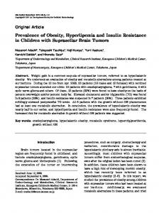 Prevalence of Obesity, Hyperlipemia and Insulin