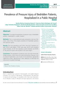 Prevalence of Pressure Injury of Bedridden Patients, Hospitalized in a ...