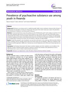 Prevalence of psychoactive substance use among ... - Springer Link