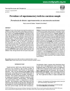 Prevalence of supernumerary teeth in a mexican