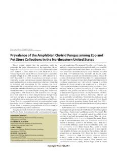 Prevalence of the Amphibian Chytrid Fungus among Zoo and Pet ...