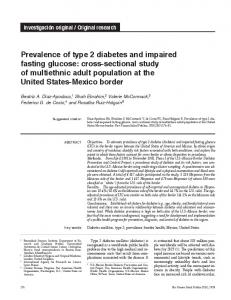 Prevalence of type 2 diabetes and impaired fasting glucose: cross ...
