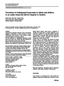 Prevalence of undiagnosed hypoxemia in adults and ...