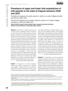 Prevalence of upper and lower limb amputations of SUS ... - SciELO
