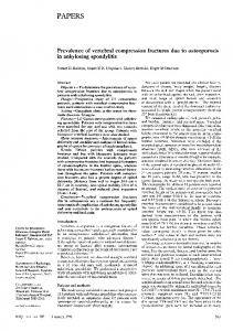 Prevalence of vertebral compression fractures due to osteoporosis in ...