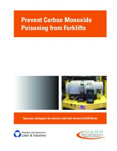 Prevent Carbon Monoxide Poisoning from Forklifts