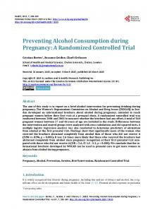 Preventing Alcohol Consumption during Pregnancy: A Randomized ...