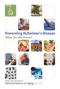 Preventing Alzheimer's Disease: What Do We Know?