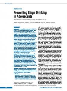Preventing Binge Drinking in Adolescents