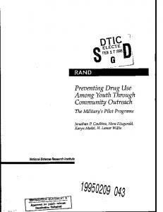Preventing Drug Use Among Youth Through