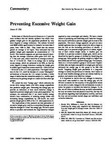 Preventing Excessive Weight Gain - Wiley Online Library
