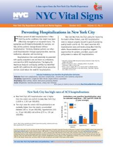 Preventing Hospitalization in New York City - NYC.gov