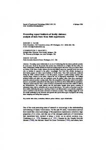 Preventing repeat incidents of family violence: analysis ... - Springer Link