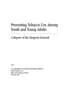 Preventing Tobacco Use Among Youth and Young Adults:A Report ...