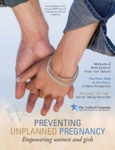 Preventing Unplanned Pregnancy: Empowering women and girls