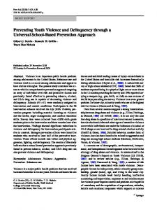 Preventing Youth Violence and Delinquency through a ... - Springer Link