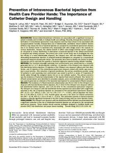 Prevention of Intravenous Bacterial Injection from ... - Elcam Medical