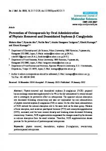 Prevention of Osteoporosis by Oral Administration