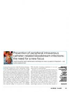 Prevention of peripheral intravenous catheter-related ...