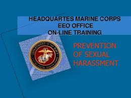 prevention of sexual harassment - Headquarters Marine Corps
