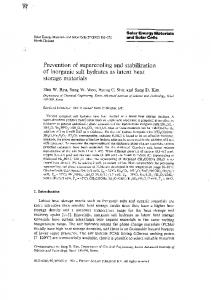 Prevention of supercooling and stabilization of ...