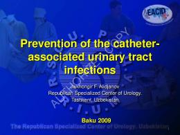 Prevention of the Catheter-associated urinary tract ...