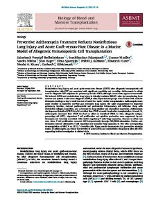 Preventive Azithromycin Treatment Reduces Noninfectious Lung ...