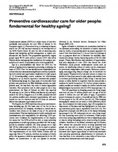 Preventive cardiovascular care for older people ... - Oxford Academic
