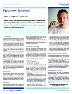 Preventive Dentistry - New Hamburg Dental Group
