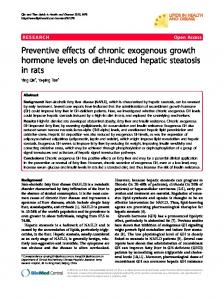 Preventive effects of chronic exogenous growth ... - BioMedSearch