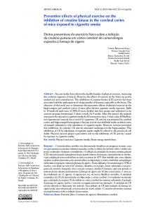 Preventive effects of physical exercise on the inhibition of ... - SciELO