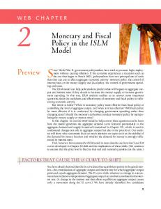 Preview Monetary and Fiscal Policy in the ISLM Model