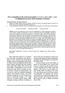 Prey composition in the carnivorous plants Utricularia inflata ... - RBT